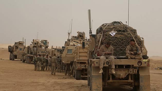 Američtí vojáci v irácké provincii Anbár