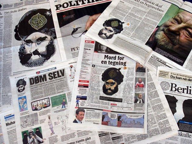 Dánské noviny otiskly kontroverzní karikatury proroka Mohameda.
