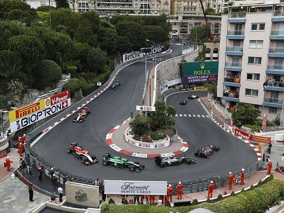 Snímek z Velké ceny Monaka 2014