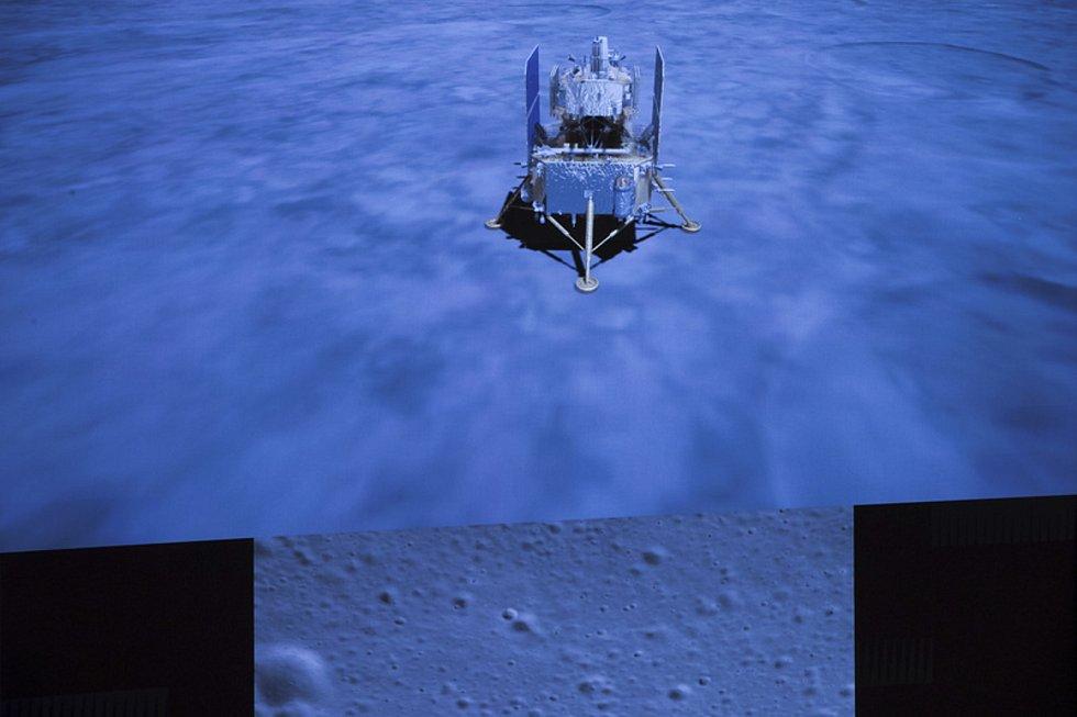Čínská sonda Čchang-e 5 na Měsíci