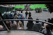 Film Roberta Sedláčka Jan Palach si o víkendu 2. a 3. září 2017 vypůjčil pardubické Pernštýnské náměstí k natáčení scén okupace v srpnu 1968.
