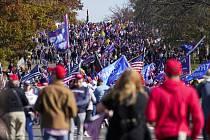 Demonstrace přívrženců Donalda Trumpa