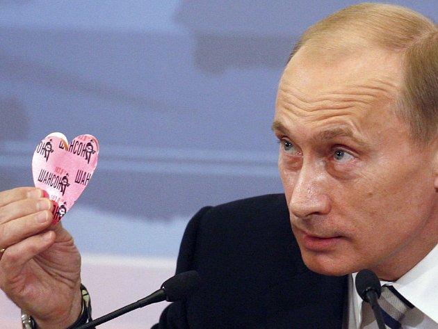 Vladimír Putin dostal valentýnku od novinářky z rádia Šanson.