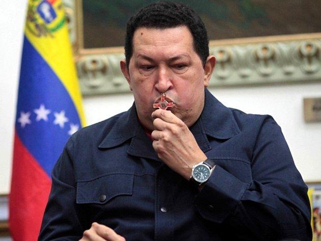 Venezuelský prezident Hugo Chávez.