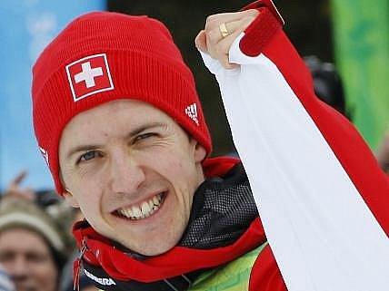 Simon Ammann, šťastný vancouverský vítěz.
