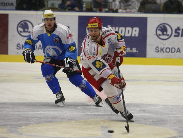 Martin Růžička na ledě Plzně.