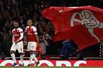 Pierre-Emerick Aubameyang a Alexandre Lacazette v dresu londýnského Arsenalu