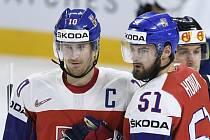 Kapitán českého týmu Roman Červenka a Roman Horák.
