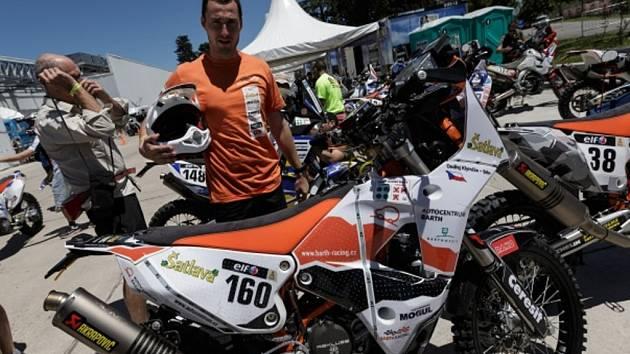 Ondřej Klymčiw na Rallye Dakar 2015.