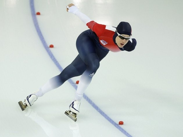 Rychlobruslařka Karolína Erbanová na olympijských hrách v Soči.