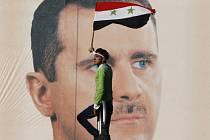 Demonstrace v Sýrii.