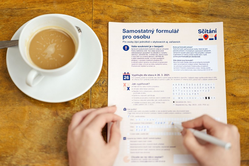 Sběr listinných formulářů od domácností proběhne za přísných hygienických opatření.