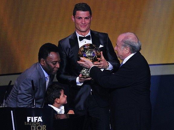 Cristiano Ronaldo se Zlatým míčem