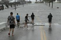 Hurikán Hanna v Texasu