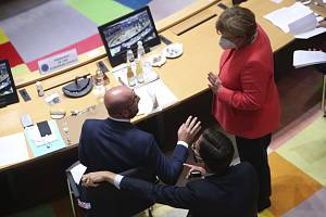Angela Merkelová, Mark Rutte a Charles Michel