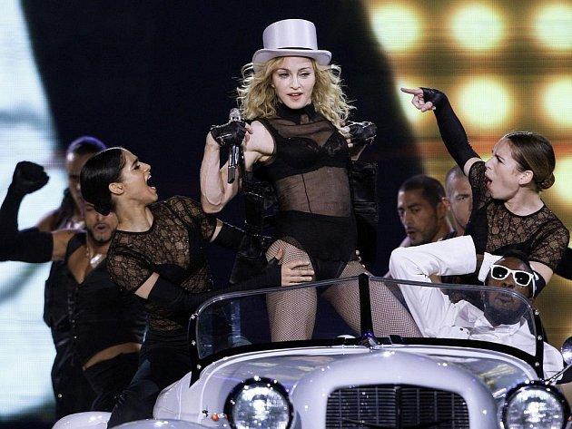 Z koncertu americké zpěvačky Madonny.