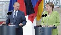 Německá kancléřka Angela Merkelová se sešla s ruským prezidentem Vladimírem Putinem.