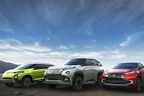 Tři koncepty Mitsubishi pro tokijský autosalon.