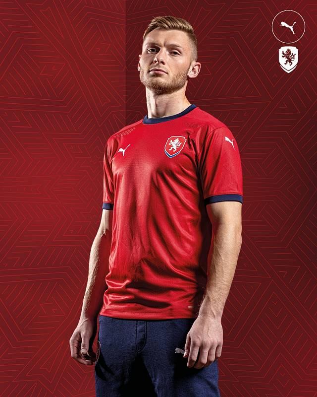 Jakub Brabec z Viktorie Plzeň také už vyzkoušel nový reprezentační dres.