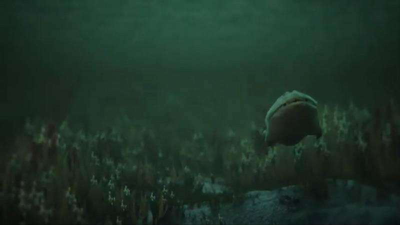 Takto mohla pravěká ryba postupně přecházet z vody na souš, počítačová animace