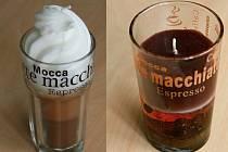 Česká obchodní inspekce (ČOI) zakázala prodej dvou svíček, které svým vzhledem i vůni napodobují sklenice s kávou.