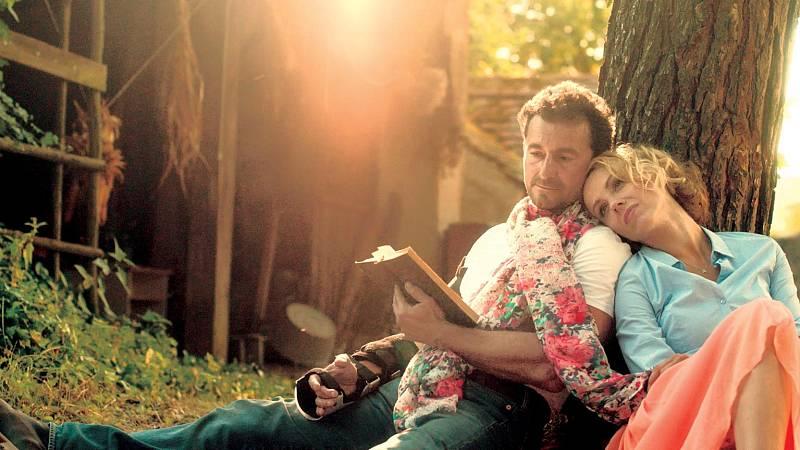 S Ondřejem Vetchým ve filmu Bezva ženská na krku.