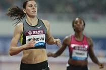 Překážkářka Zuzana Hejnová (vlevo) vyhrála na mítinku Diamantové ligy v Šanghaji v nejlepším světovém výkonu roku.