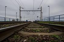 Železniční koleje. Ilustrační foto