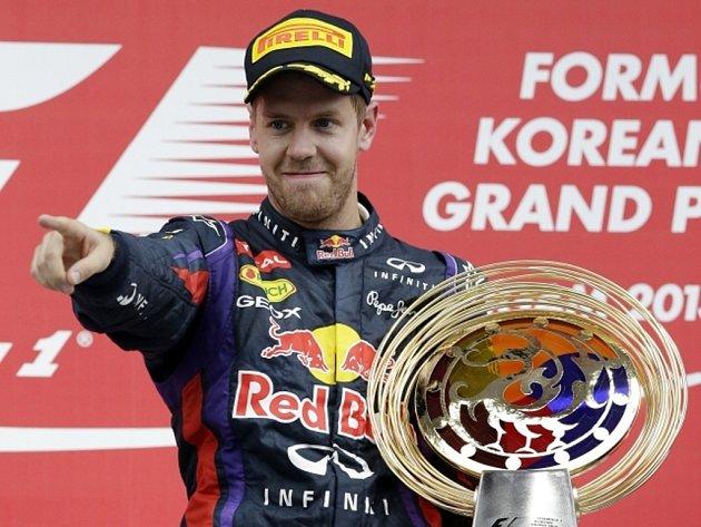 Sebastian Vettel triumfoval ve Velké ceně Koreje potřetí za sebou.