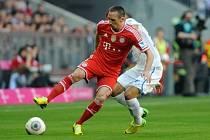 Bayern Mnichov - Hoffenheim: Franck Ribéry a Fabian Johnson