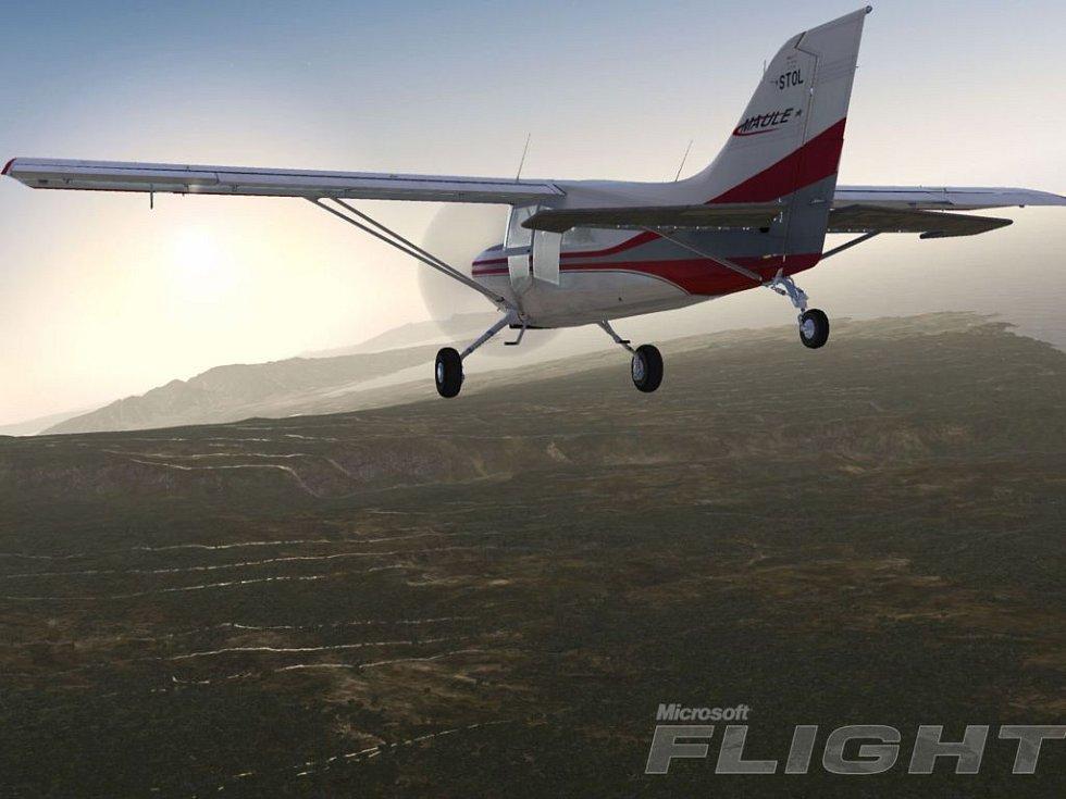 Počítačová hra Microsoft Flight.