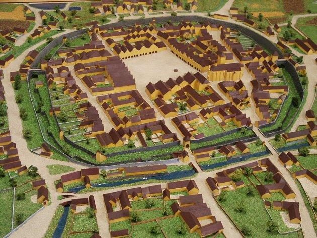 Model, který představuje podobu města vroce 1837.