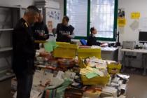 Nedoručená pošta, kterou našla policie v italském městě Vicenza