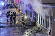 Požár mešity ve Švédsku