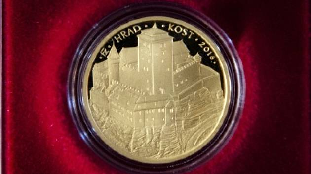 mince ČNB s motivem hradu Kost
