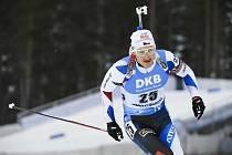 Český biatlonista Ondřej Moravec ve vytrvalostním závodu SP v Kontiolahti.