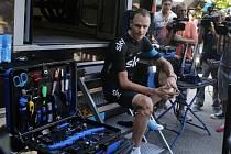 Christopher Froome během druhého volného dne letošní Tour de France.