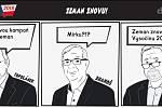 Prezidentské volby - komiks - Toplánek a Drahoš - Zeman znovu