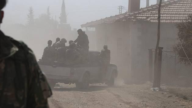 Boje v Sýrii. Ilustrační snímek