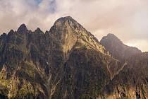 Lomnický štít ve Vysokých Tatrách.