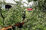 V souvislosti se silnou bouřkou, která se přehnala v noci na neděli přes Pardubický kraj, hasiči zasahovali u 12 událostí