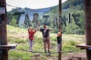 Tarzanie - Horský lanový park Raztoka