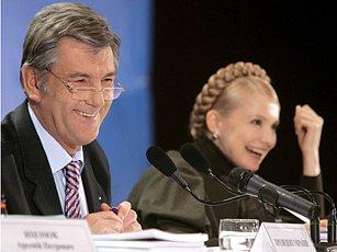 Ukrajinský prezident Juščenko a premiérka Tymošenková by rádi viděli svou zemi v NATO.