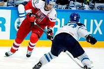 Jakub Voráček ve čtvrtfinále MS s Finskem