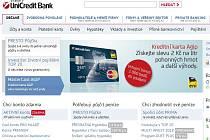 Webová stránka UniCredit Banky