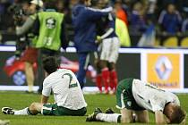 Irští fotbalisté neskrývali po barážové prohře ohromné zklamání.