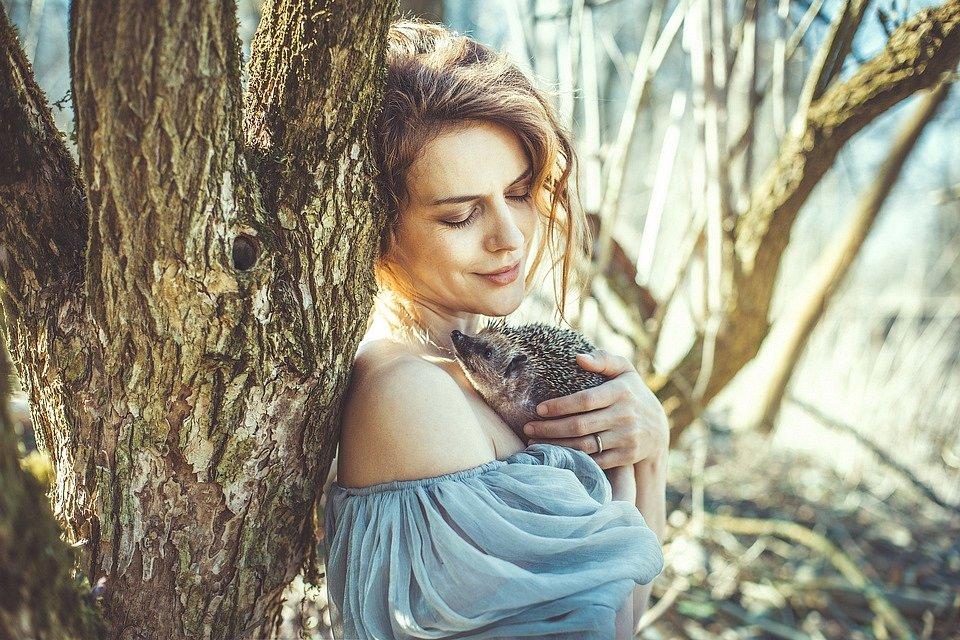 Andrea Růžičková a ježek západní