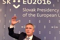 Generální tajemník NATO Jense Stoltenberg.