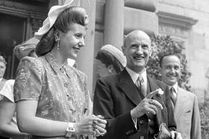 Srpen 1947. Evita Perónová navštívila švýcarský Bern