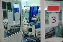 Oddělení anesteziologie a resuscitace (ARO) Fakultní nemocnice Královské Vinohrady v Praze, kde se starají o pacienty s covidem-19